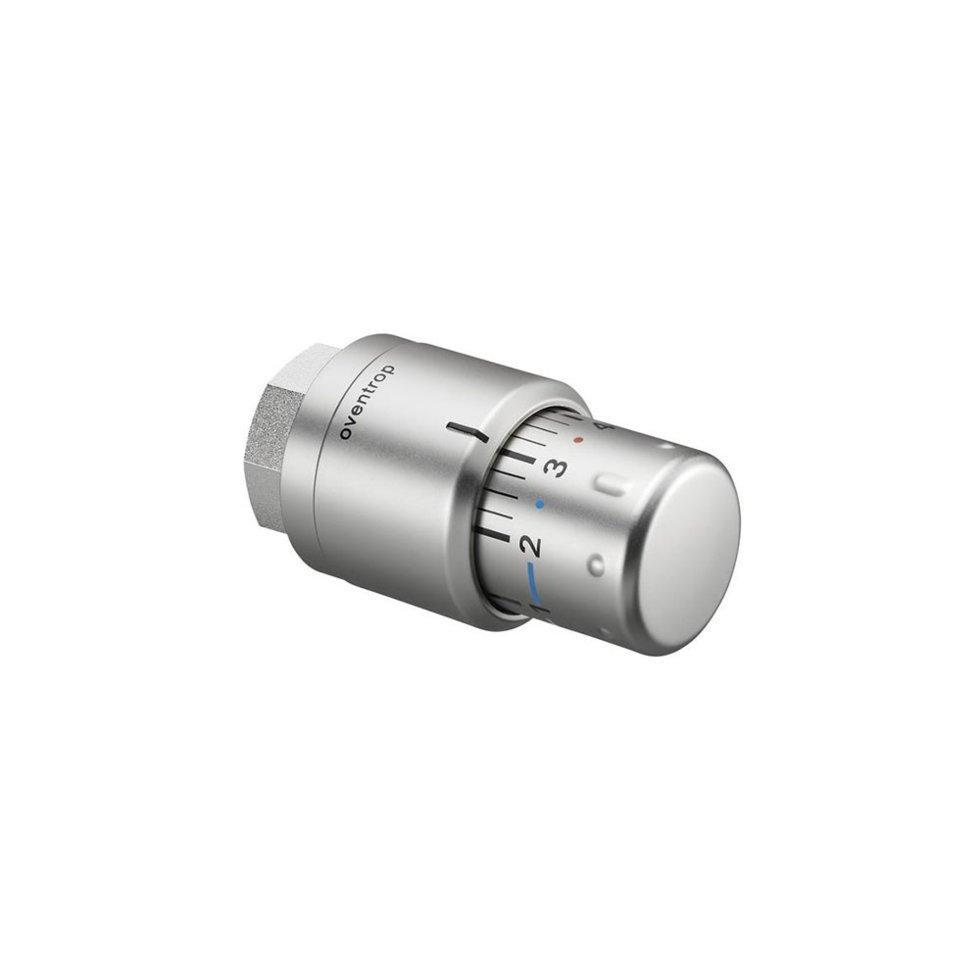 Термостат Oventrop Uni SH матовая сталь со встроенным жидкостным чувствительным элементом