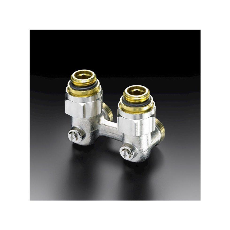 Кран угловой Oventrop Multiflex F для нижнего подключения радитаора отопления или полотенцесушителя