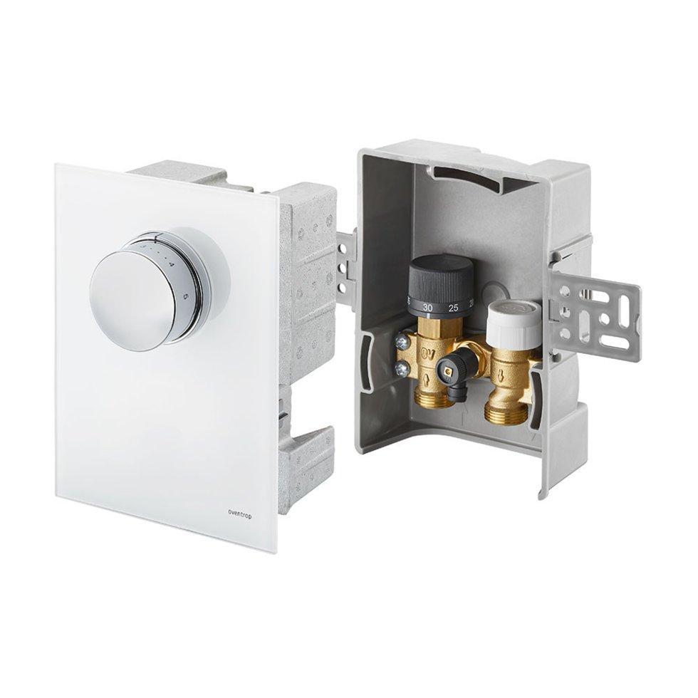 Терморегулятор Oventrop-Unibox T-RTL, белое стекло