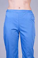 Медицинские штаны (батист) голубые