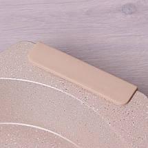 Форма для запекания Kamille Бежевый 37*34см с антипригарным покрытием мрамор и силиконовыми ручками KM-6029B, фото 3