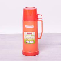 Термос Kamille Красный 450мл пластиковый со стеклянной колбой KM-2070KR, фото 3