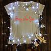 Жіноча футболка з принтом - Happy New Year XS