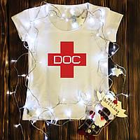 Женская футболка  с принтом - DOC
