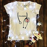 Женская футболка  с принтом - I'm doctor