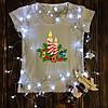 Женская футболка  с принтом - Рождественские свечи