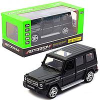 Игрушка машина Автопром Мерседес Бенц (Mercedes-Benz) Чёрный.Железные игрушечные машинки Гелендваген (Гелик) (3201G), фото 1