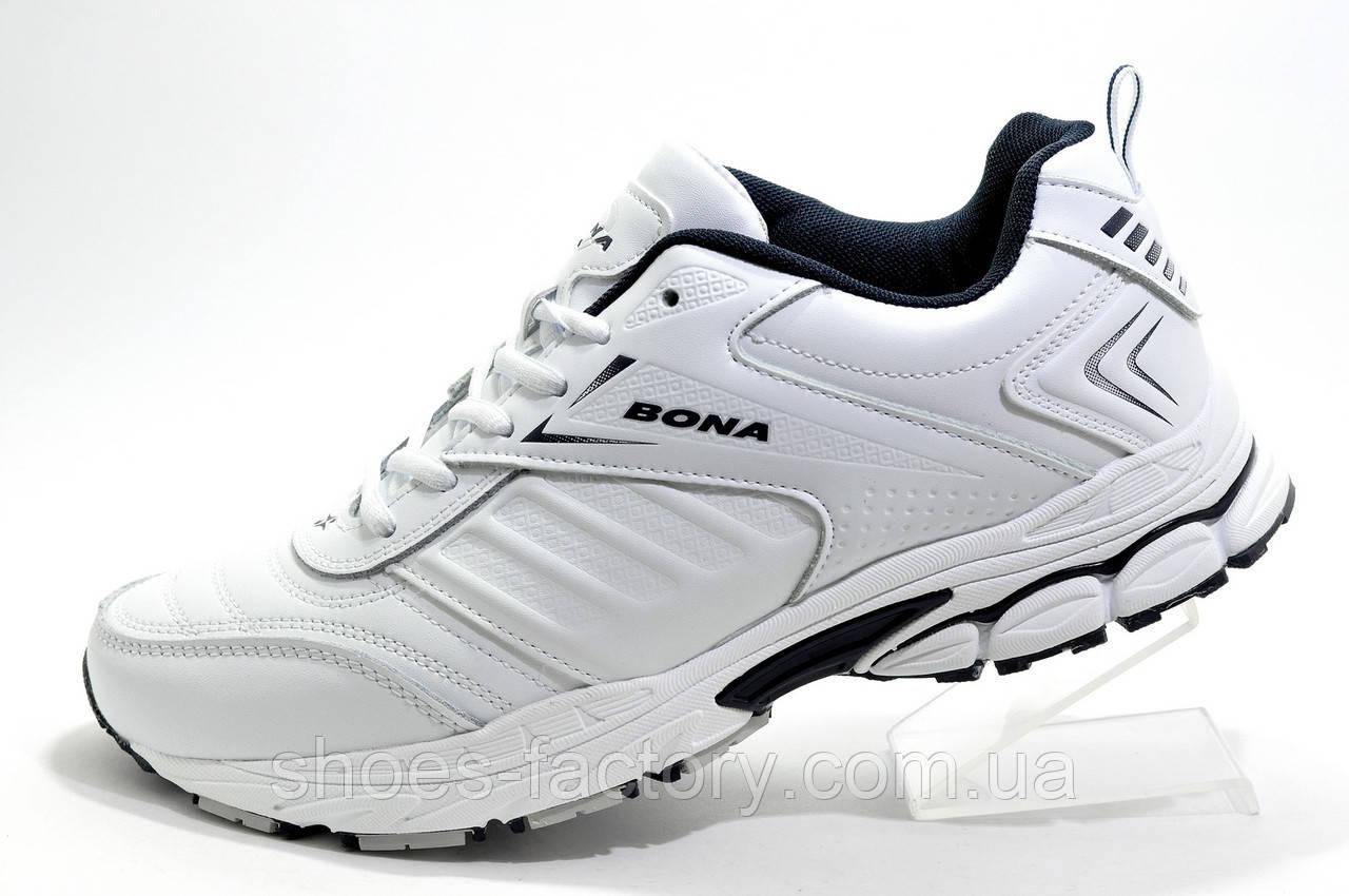 Белые мужские кроссовки Bona 2021, Кожа