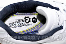 Белые мужские кроссовки Bona 2021, Кожа, фото 3