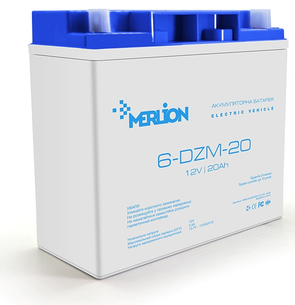 Акумулятор тяговий Merlion 6DZM20 12V/20Ah для електро транспорту