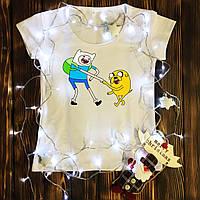 Жіноча футболка з принтом - Фін і Джейк XS