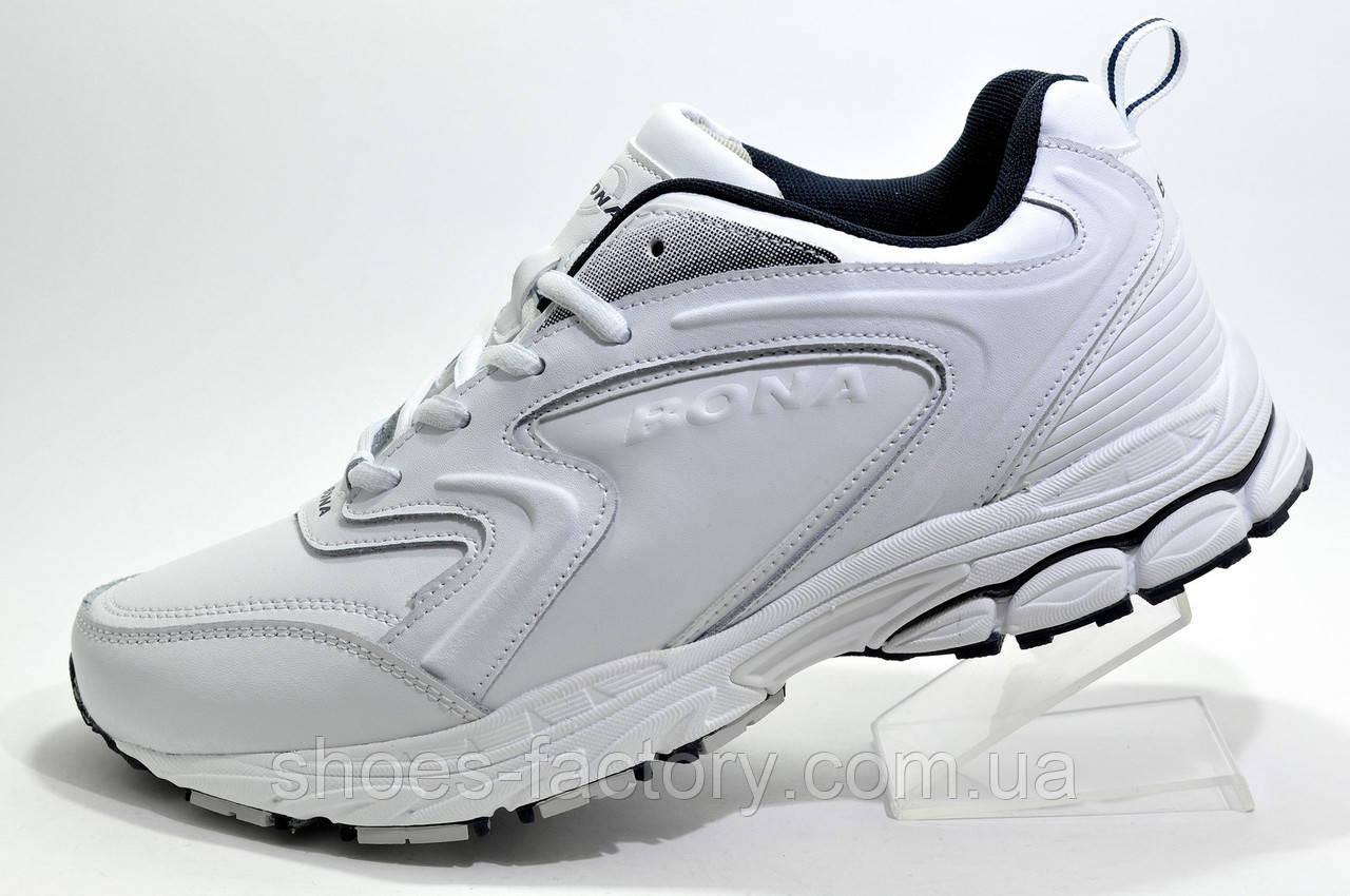 Белые мужские кроссовки Bona 2021, Кожаные