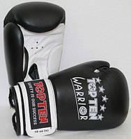 """Боксерские перчатки для подростка TopTen """"WARRIOR"""" черно-белый 10 oz"""