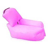 Ламзак надувной с подушкой Розовый