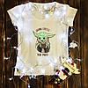 Женская футболка  с принтом - Йода