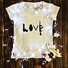 Женская футболка  с принтом - Люблю оружие