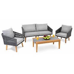 Набор садовой мебели di Volio Matera Светло-серый уличная мебель для дома, сада, пляжа, бара и ресторанов