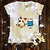 Жіноча футболка з принтом - Пара Піца і Пиво XS