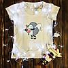 Жіноча футболка з принтом - Їжачок амур XS