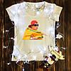 Женская футболка  с принтом - Рома букин