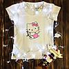 Женская футболка  с принтом - Амур Хеллоу Китти