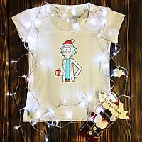 Жіноча футболка з принтом - Новорічний Рік XS