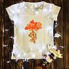 Женская футболка  с принтом - Мишка с шариками