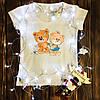 Жіноча футболка з принтом - Пара ведмедиків Тедді XS