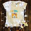 Женская футболка  с принтом - КотоПёс