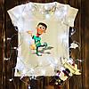 Женская футболка  с принтом - Шин