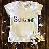 Женская футболка  с принтом - Наука