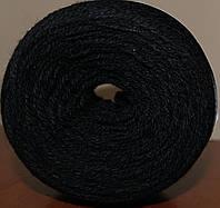 Пряжа для ручного вязания. Цвет : черный.