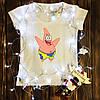 Женская футболка  с принтом - Патрик