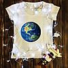 Жіноча футболка з принтом - Земля XS