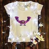 Жіноча футболка з принтом - Монстр XS