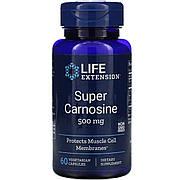Супер Карнозин, Super Carnosine, Life Extension, 500 мг, 60 вегетарианских капсул