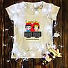 Жіноча футболка з принтом - Love is... XS