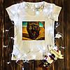 Женская футболка  с принтом - Лицо войны