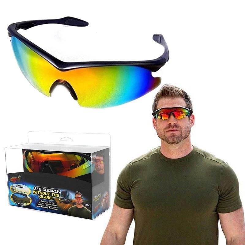 Солнцезащитные антибликовые очки для водителя TAC GLASSES (Реплика)