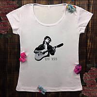 Женская футболка  с принтом - Цой жив!