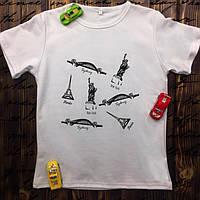 Мужская футболка с принтом - Города с чудесами мира