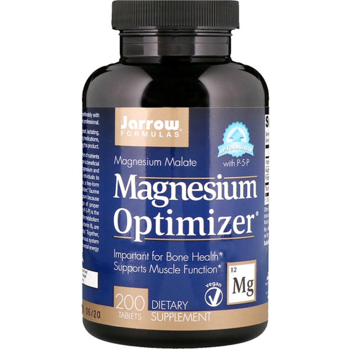 Оптимизатор Магния, Magnesium Optimizer, Jarrow Formulas, 200 таблеток