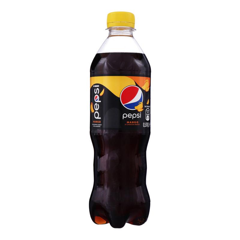 Pepsi-Cola, 0,5 л, Пепсі-Кола, Манго, Вода солодка