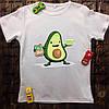 Мужская футболка с принтом - Авокадо кушает