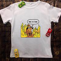 Мужская футболка с принтом - Пёсик (всё отлично)
