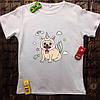 Мужская футболка с принтом - Мопс-единорог