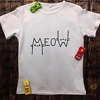 Мужская футболка с принтом - Котики MEOW