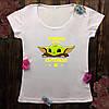 Женская футболка  с принтом - Малыш Йода