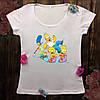 Женская футболка  с принтом - Симпсоны