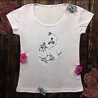 Женская футболка  с принтом - Котик
